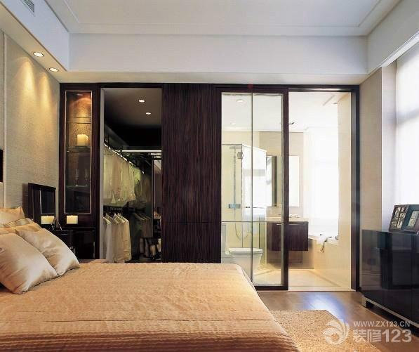 现代风格卧室壁橱样板房设计