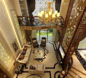 挑高客廳裝修效果圖 歐式客廳吊頂效果圖 小復式樓