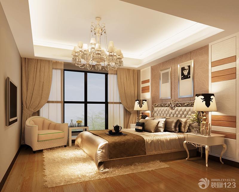 2013欧式三室两厅卧室吊顶装修效果图