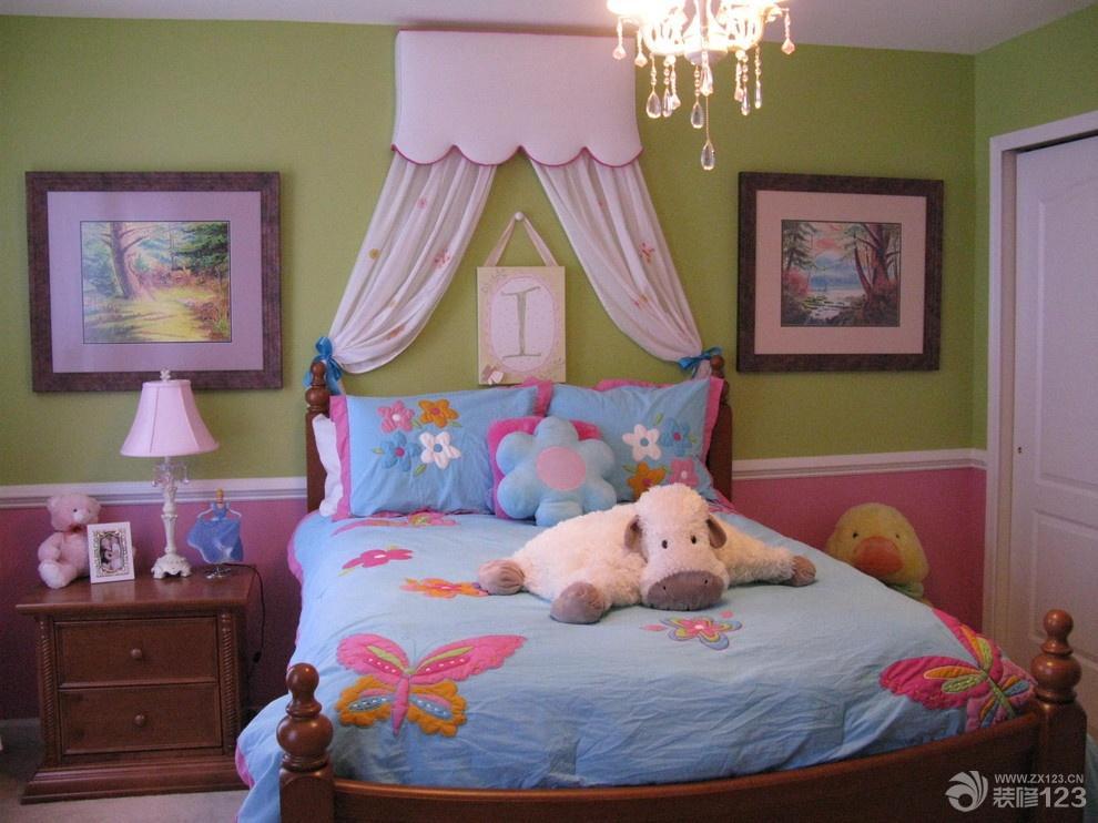 欧式风格儿童房卧室装饰效果图