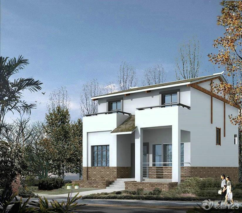 160平米小别墅外观设计效果图