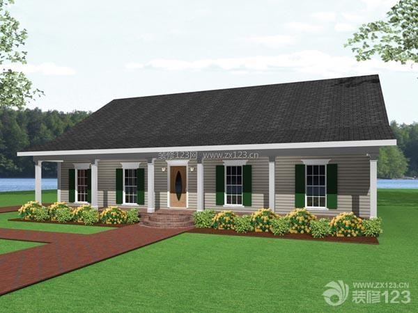 2014最新单层别墅外观设计效果图