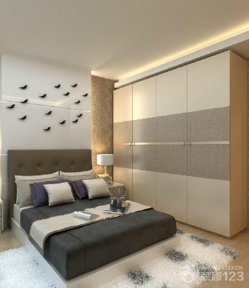 最新现代简约卧室整体衣柜设计图片