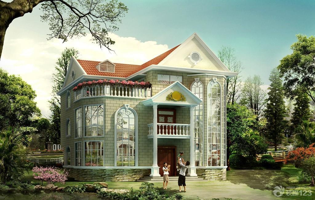 欧式风格别墅外观设计效果图