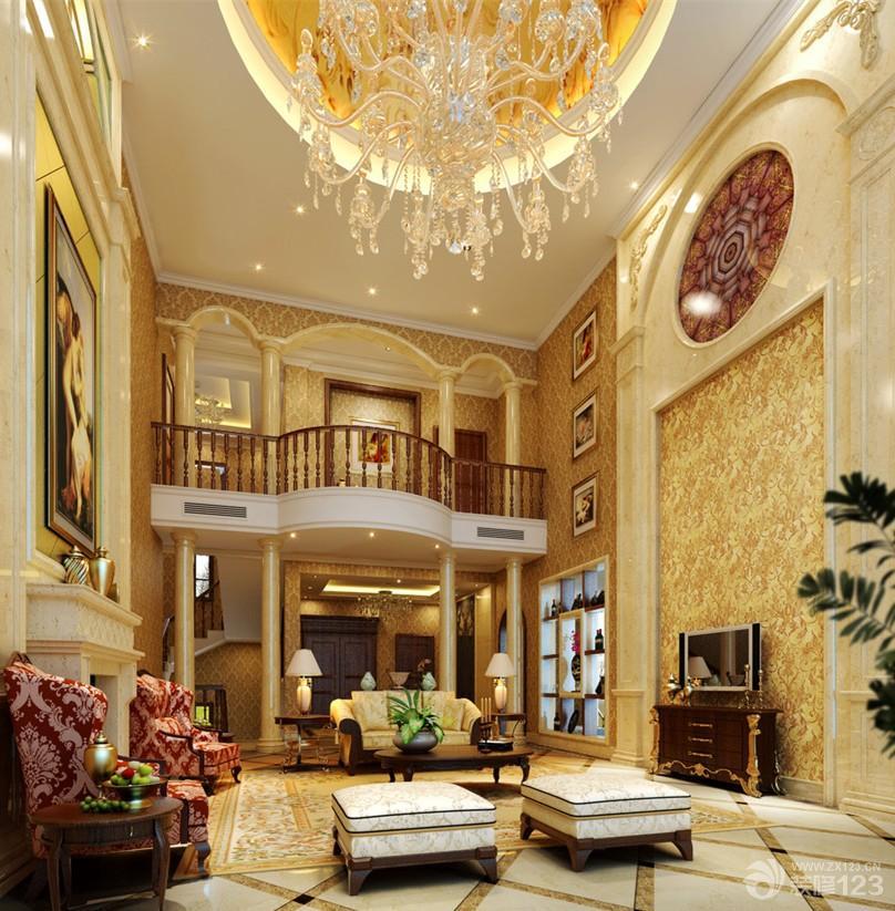 120平米复式楼客厅装修设计效果图片图片