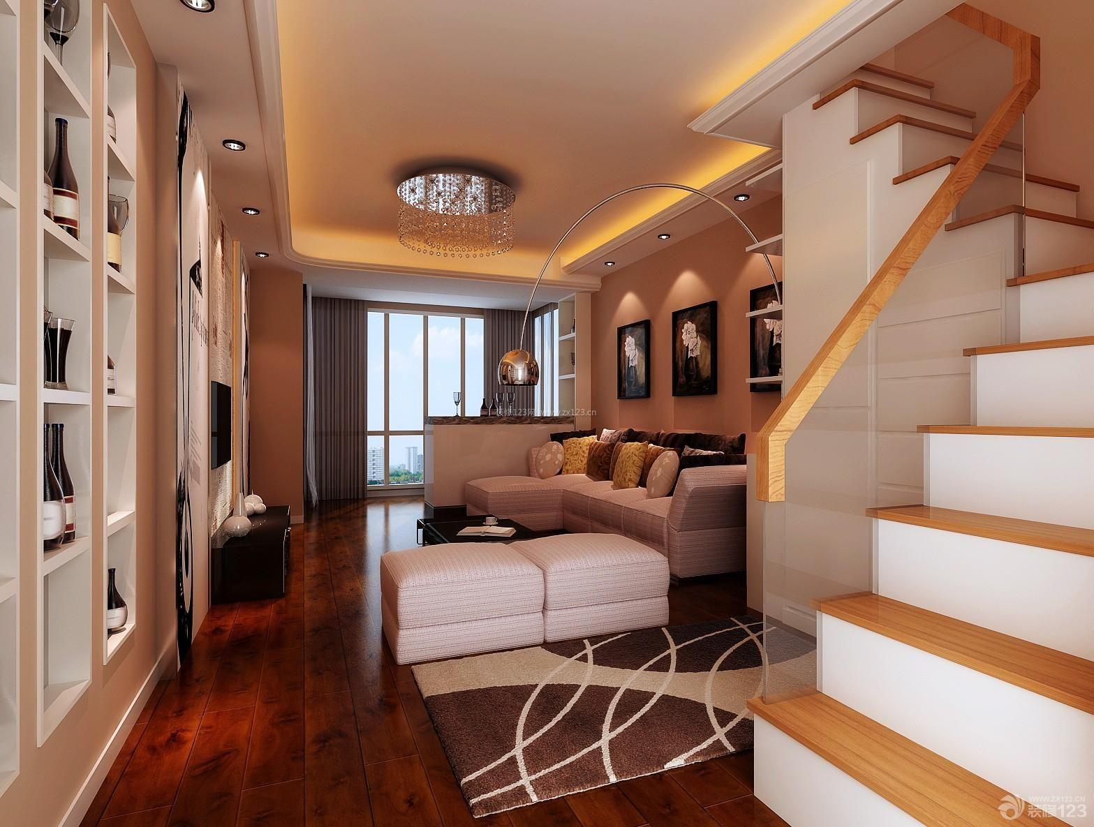 最新时尚复式楼楼梯装修设计效果图