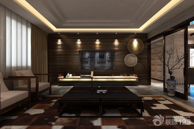别墅室内装修大客厅灯带设计效果图