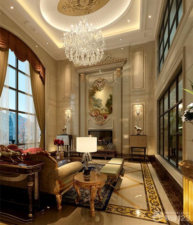 最新欧式客厅吊顶灯带设计效果图图片