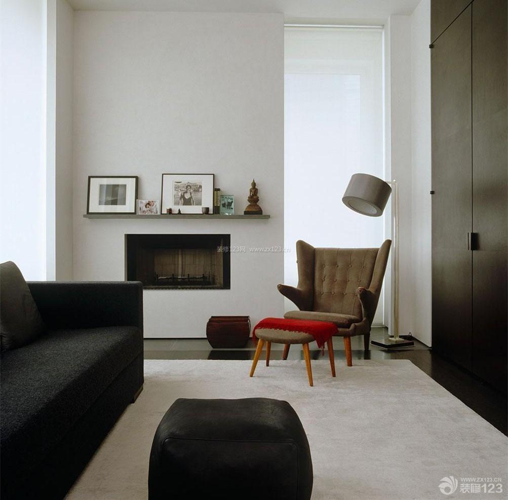 现代简约小两居室装修设计效果图