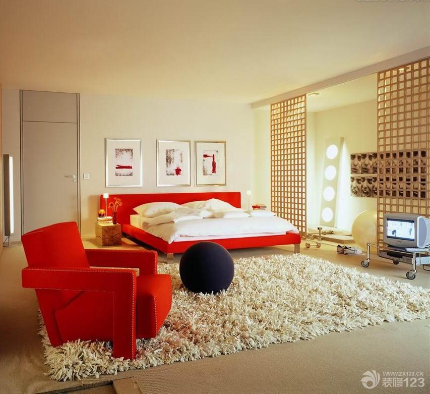 榻榻米卧室装修风格浅棕色木地板实景图