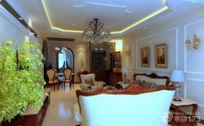 客廳裝飾花 三室一廳一廚一衛