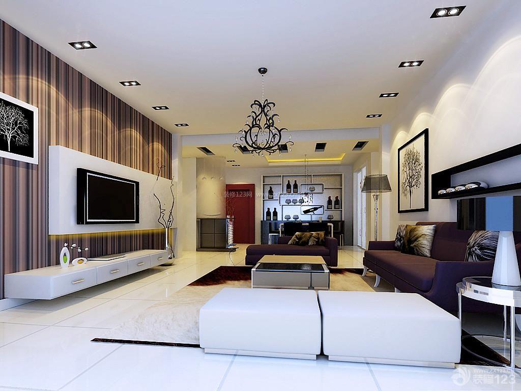 现代风格房子装修样板房客厅图片欣赏