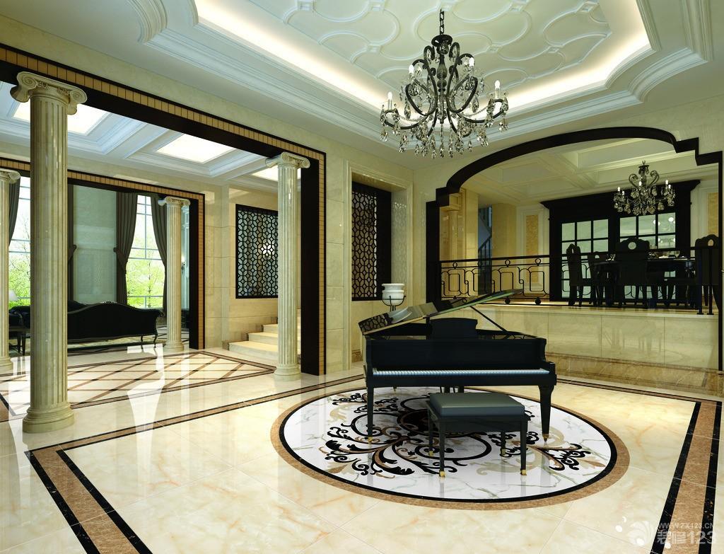 欧式瓷砖拼花装修设计效果图图片