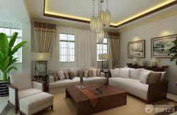 躍層新房客廳組合沙發裝修效果圖