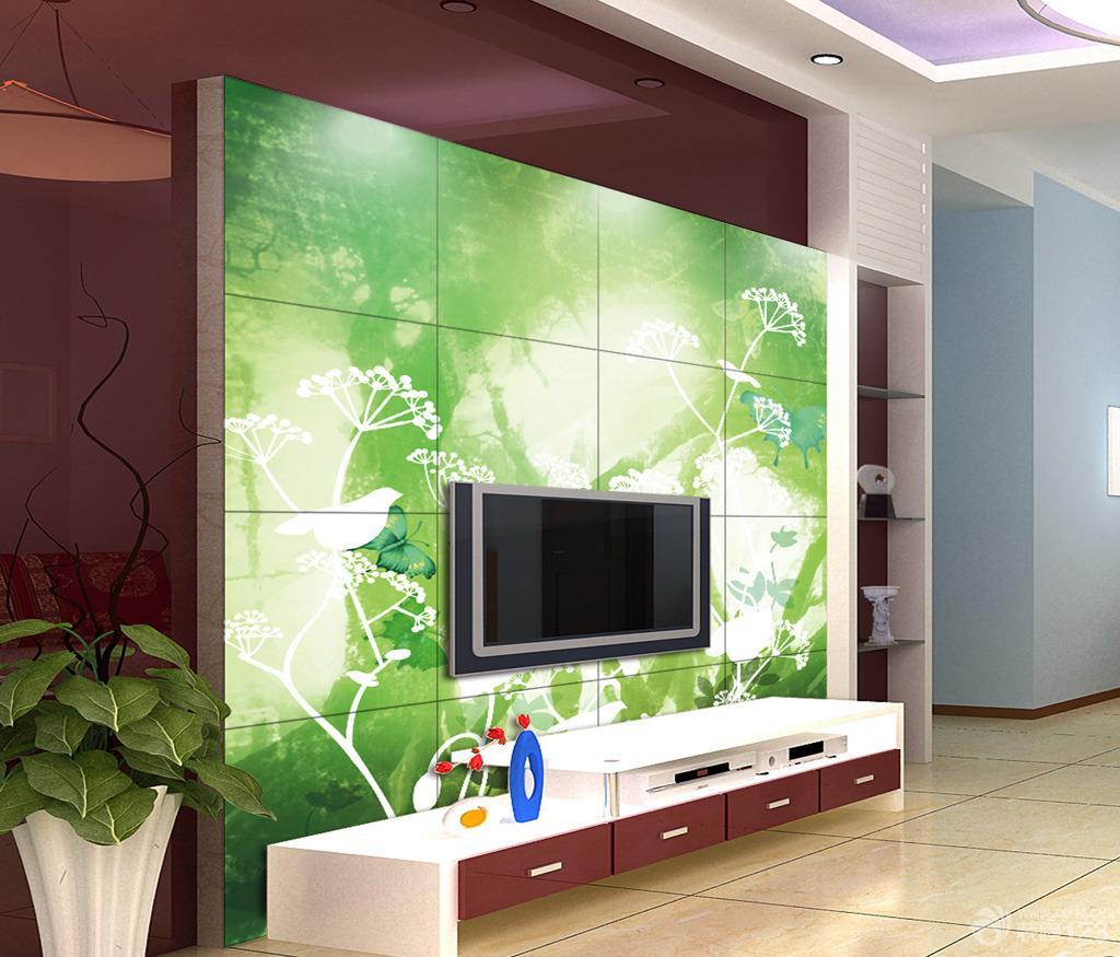 木质电视背景墙设计装修图片