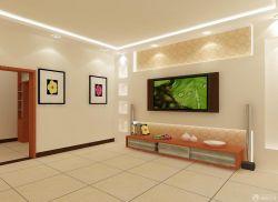 最新新房電視背景墻顏色搭配效果圖