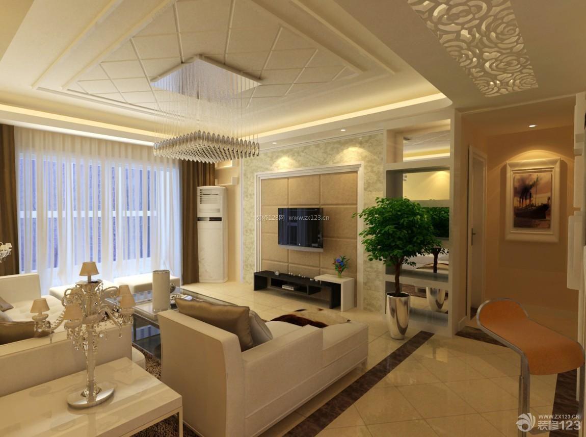2013客厅天花板吊顶欧式风格装修设计图欣赏图片