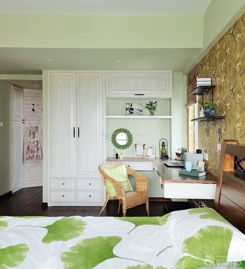 家庭卧室壁橱混搭风格装修实景图