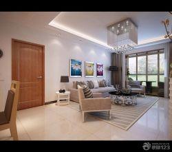 現代設計風格新房客廳沙發背景墻裝修圖