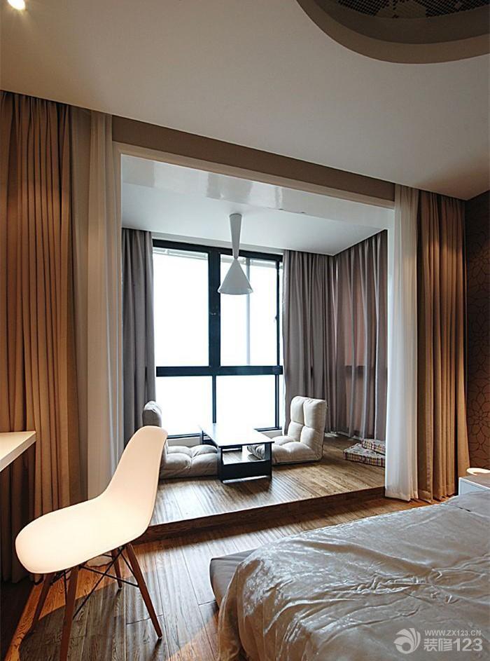 日式风格家居榻榻米主卧室装修设计效果图欣赏
