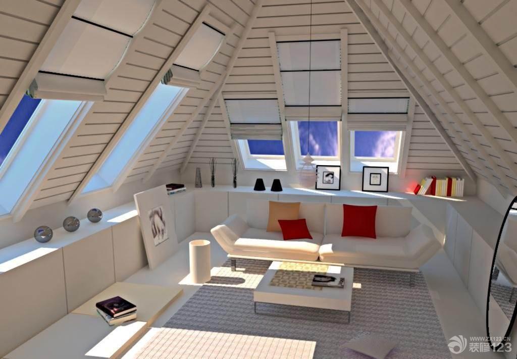 最新18平米阁楼客厅设计效果图欣赏