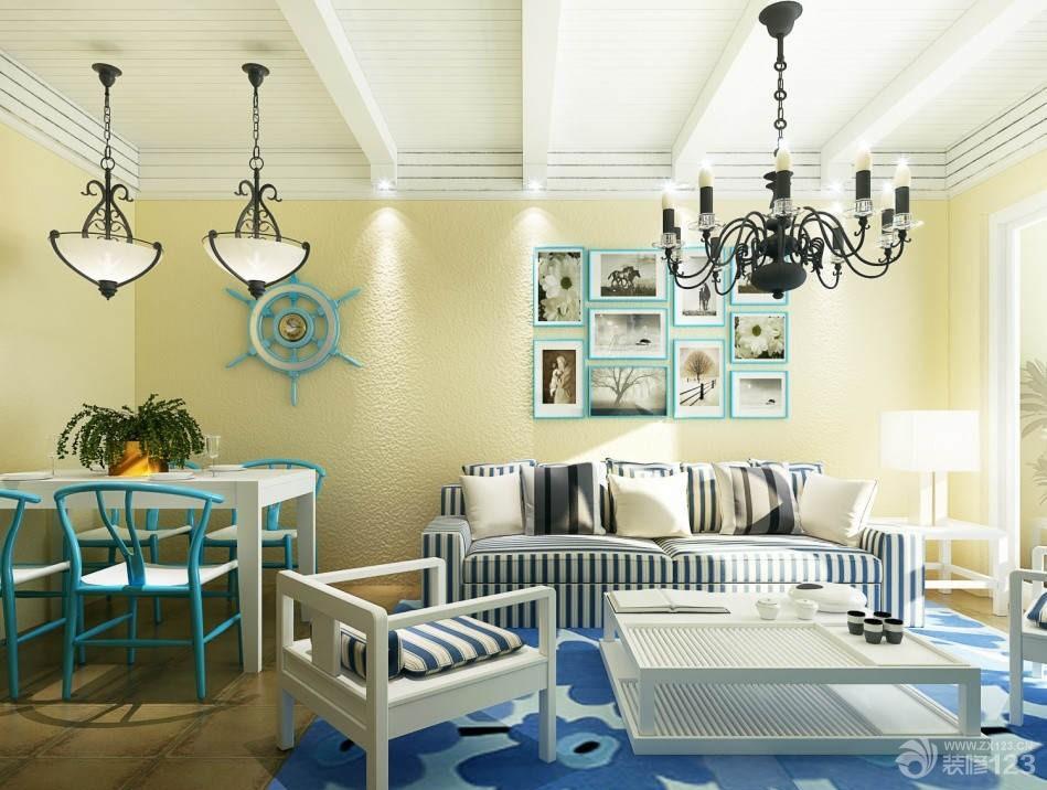 地中海风格一室一厅18平米客厅装修设计效果图