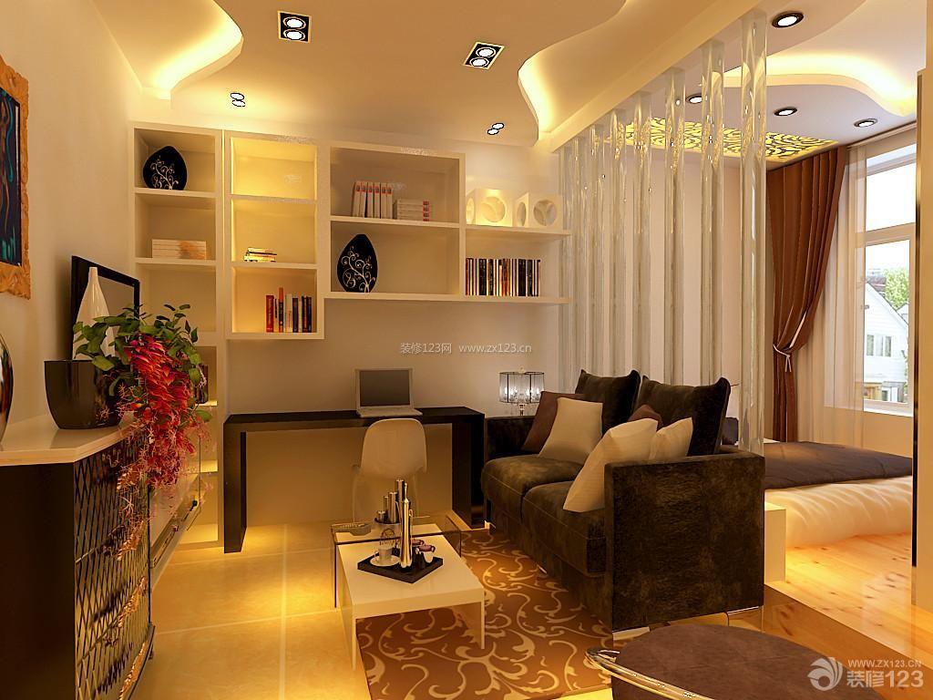 现代时尚30平米单身公寓装修效果图