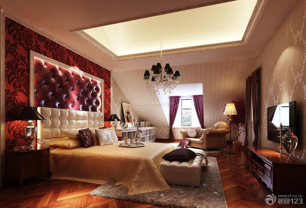 交换空间欧式奢华阁楼装修样板房图片