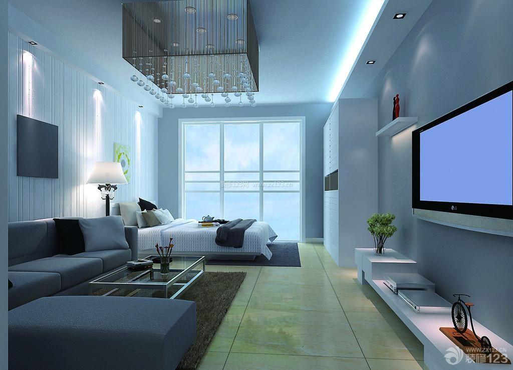 简约室内40平单身公寓装修效果图片