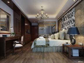 歐式室內裝潢 主臥室 床頭背景墻