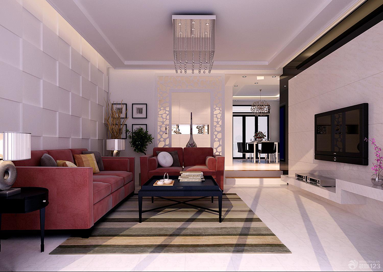 简约时尚三室两厅一卫经典客厅装修图片