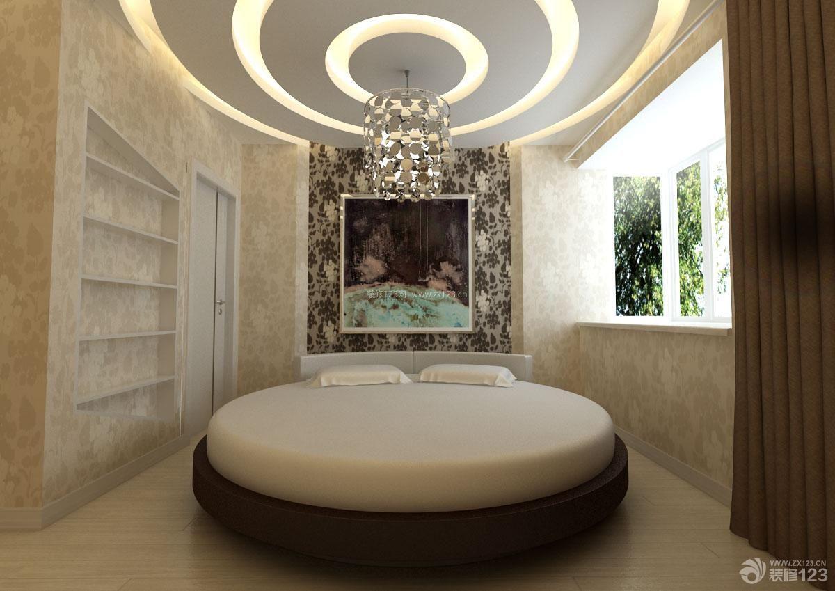 2013欧式卧室圆形吊顶装修效果图