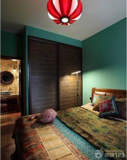 東南亞風格主臥室藝術燈具裝修圖