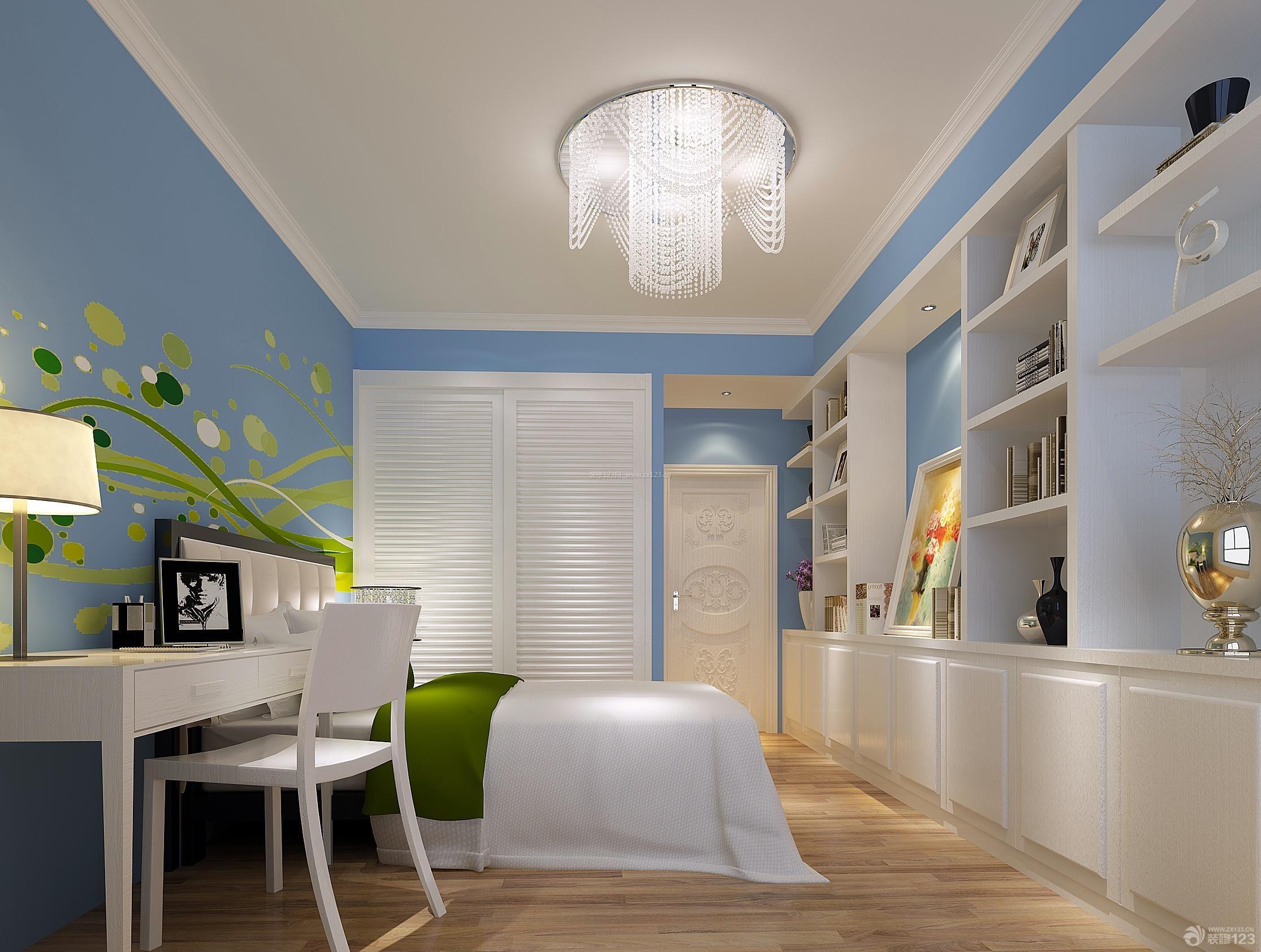 20平米卧室颜色装修室内水晶灯设计图