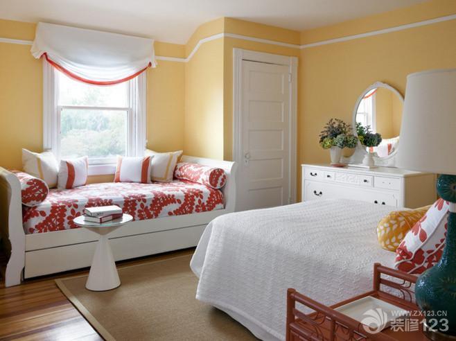 家庭室内主卧飘窗设计实景图