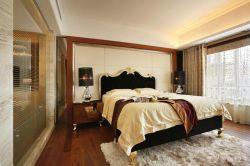 歐式室內裝潢主臥室床頭背景墻效果圖
