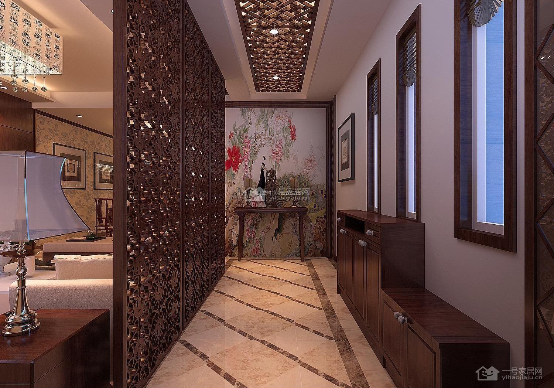 走廊玄关室内木质隔断装修效果图大全