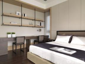 现代简约风格主卧室床头背景墙装修图片大全图片