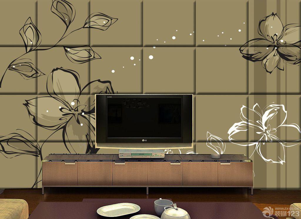 模块手绘电视背景墙装修效果图片