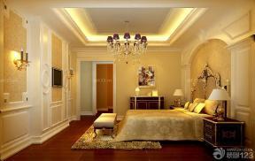 地脚线颜色 欧式装修样板房 主卧室装修效果图大全2014图片