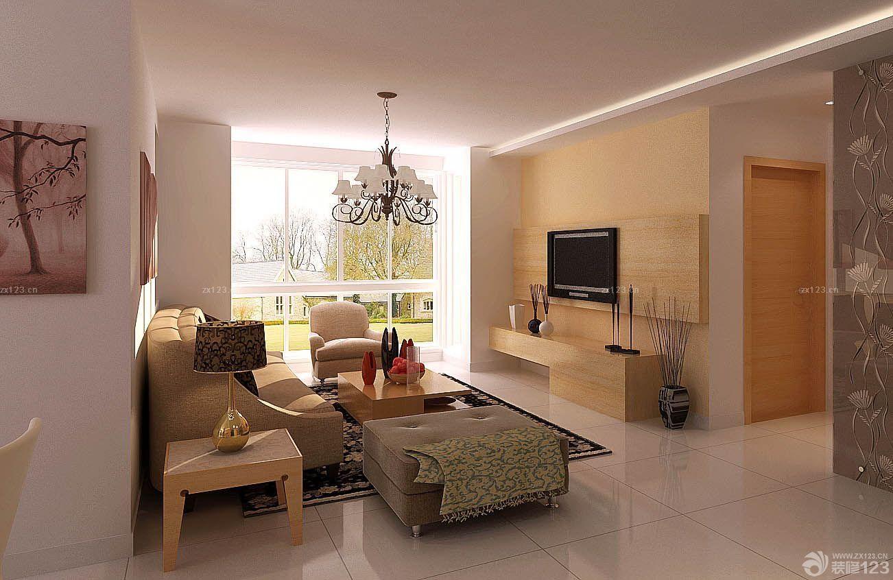 简约现代120平方三室一厅室内客厅装修图片设计