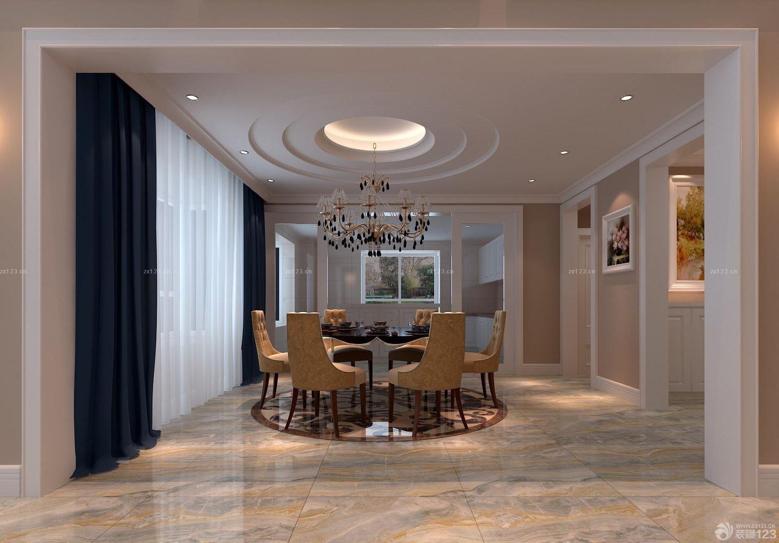 现代欧式风格别墅餐厅装饰图片设计