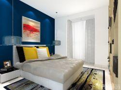 時尚新房臥室床頭背景墻顏色搭配設計圖片