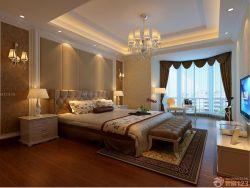 歐式室內裝潢大臥室床頭背景墻裝修效果圖