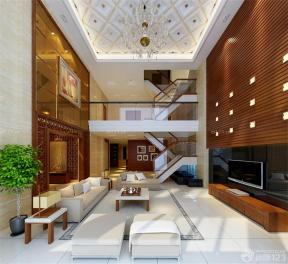 現代家居 挑高復式裝修效果圖 大客廳