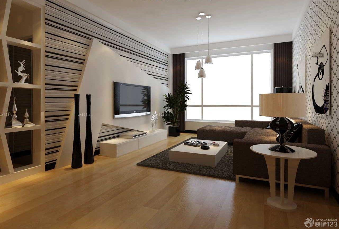 地中海风格三室二厅一卫正方形客厅装修图片