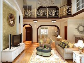 客廳裝潢設計效果圖 挑高復式裝修效果圖