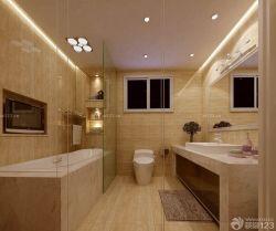 簡約室內衛生間鋼化玻璃隔斷裝修圖片