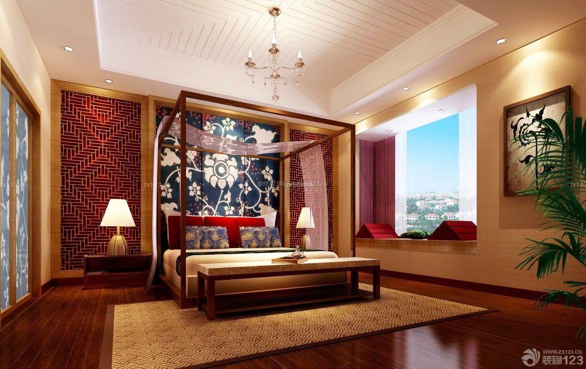 中式混搭140平米结婚新房装饰效果图设计