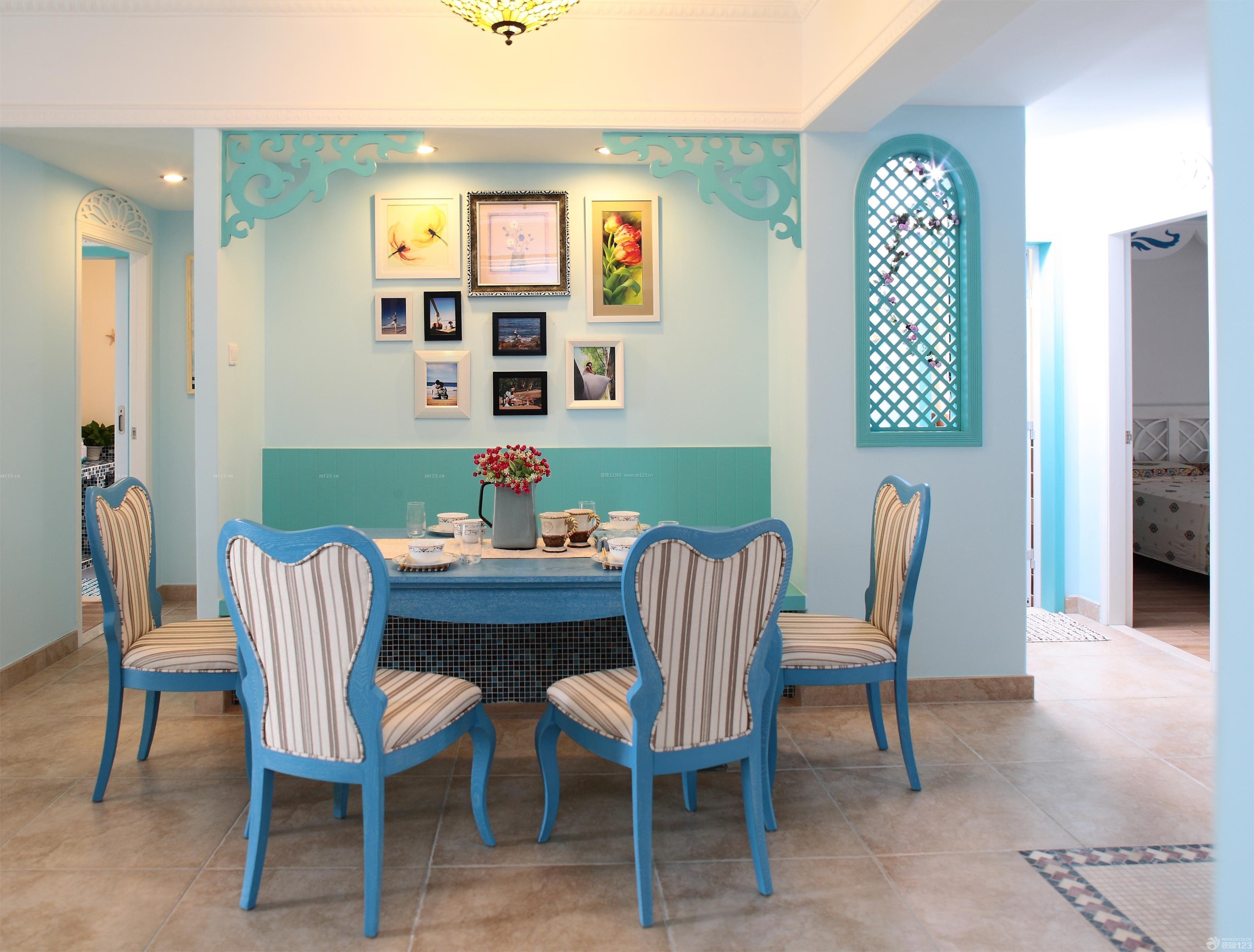 三室两厅地中海式装修风格图片_图片收藏_装修123图片